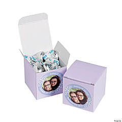 Custom Photo Mini Lilac Favor Boxes