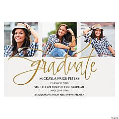 Custom Photo Multi-Image Graduation Invitations