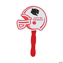 Custom Photo Red Helmet Hand Fans