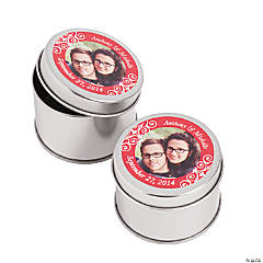 Custom Photo Red Photo Metal Containers