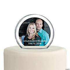 Custom Photo Round Cake Topper