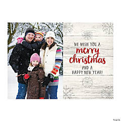 Custom Photo Rustic Christmas Cards