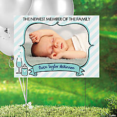 Custom Photo Sip & See Baby Yard Sign