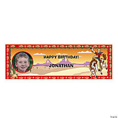 Custom Photo Small Cowboy Party Vinyl Banner