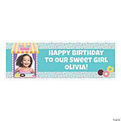 Custom Photo Small Donut Party Vinyl Banner