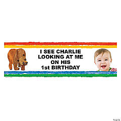 Custom Photo Small Eric Carle's Brown Bear, Brown Bear, What Do You See? Vinyl Banner