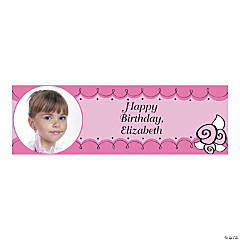 Custom Photo Small Little Ballerina Party Vinyl Banner