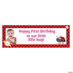 Custom Photo Small Little Ladybug Vinyl Banner