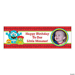 Custom Photo Small Mini Monster Vinyl Banner
