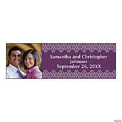 Custom Photo Small Ornate Pattern Vinyl Wedding Banner