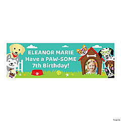 Custom Photo Small Puppy Party Vinyl Banner