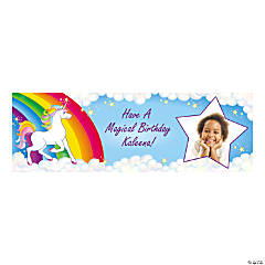 Custom Photo Small Unicorn Party Vinyl Banner