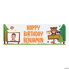 Custom Photo Small Woodland Party Vinyl Banner