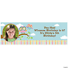 Custom Photo Small You're A Hoot Vinyl Banner