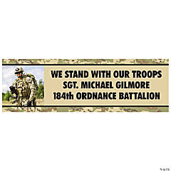 Custom Photo Support Our Troops Vinyl Banner
