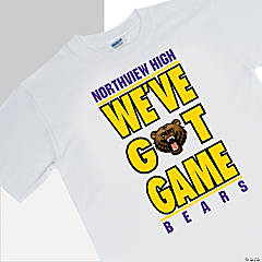 Custom Photo Team Spirit T-Shirt - We've Got Game