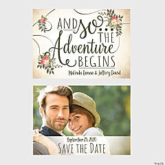 Custom Photo The Adventure Begins Save the Date Cards