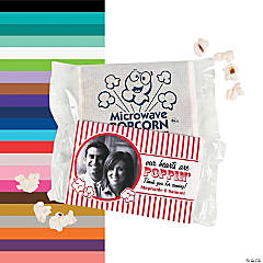 Custom Photo Wedding Mini Popcorn Bags