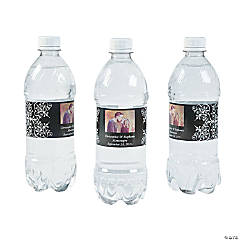 Custom Photo Wedding Water Bottle Labels