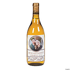 Custom Photo Wedding Wine Bottle Labels