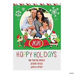 Custom Photo Whimsical Christmas Cards