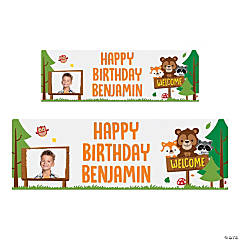 Custom Photo Woodland Party Vinyl Banner