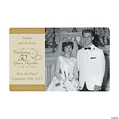 Customized 50th Wedding Anniversary Photo Magnets