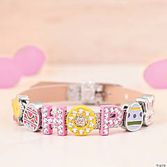 Cute Easter Slide Charm Bracelet Idea