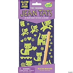 Cute Kitties Glow-In-The-Dark Jean Tats Pack