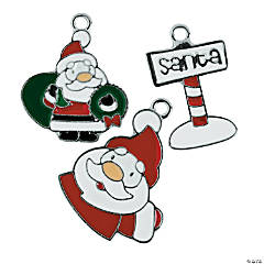 Cute Santa Enamel Charms - 25mm - 28mm