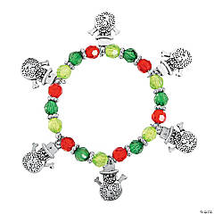 Cute Snowman Charm Bracelet Craft Kit