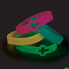 Cutout Cross Glow-in-the-Dark Faith Bracelets
