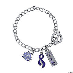 Cystic Fibrosis Awareness Bracelets with Charms