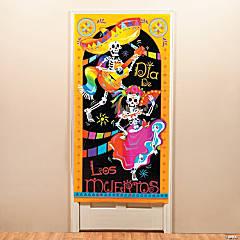 Día de los Muertos Plastic Door Cover