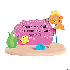 3D Floating Fish with Bible Verse Craft Kit
