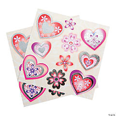 3D Heart Stickers
