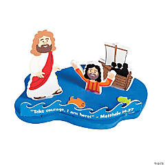 3D Jesus & Peter Walk on Water Floating Craft Kit