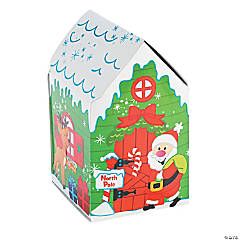 3D Santa's House Sticker Scenes