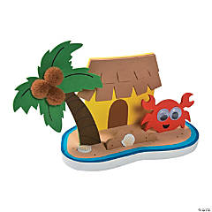 3D Tropical Island Scene Craft Kit