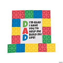Dad Brick Tabletop Decoration with Easel Craft Kit