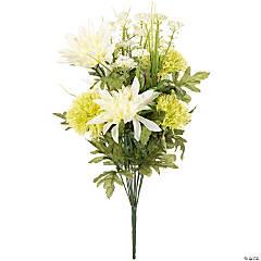 Dahlia & Carnation Bush W/12 Flowers 19