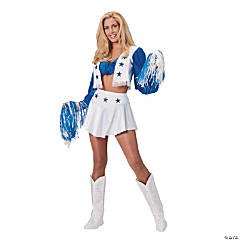 Dallas Cowboy Cheerleader Deluxe Adult Women's Costume