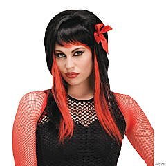 Dark Fairytale Black & Red Wig