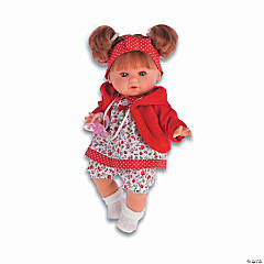 Dato Baby Girl Doll With Red Floral Dress