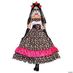 Day of Dead Spanish Lady Costume for Women