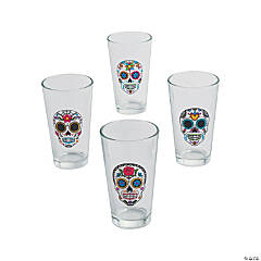 Day of the Dead Glass Tumblers