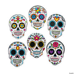 Day of the Dead Mini Skull Cutouts