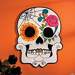 Day of the Dead Skull Wall Sign