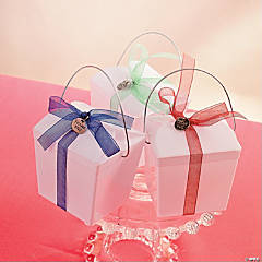 Decorated Take Out Box with Ribbon and Charm Idea