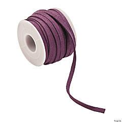 Deep Purple Faux Leather Cording